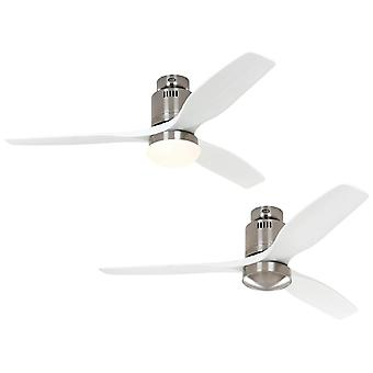 DC katto tuuletin Aerodynamix Eco Harjattu kromi/valkoinen