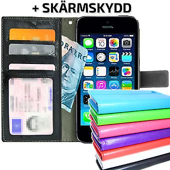 TOP Wallet Case iPhone 5/5S/SE with ID/photo Pocket + protection
