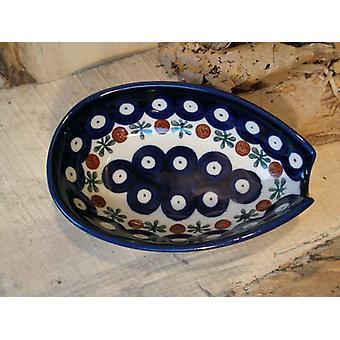 Spoon, 12.5 x 8.5 cm, tradition 6, Upper Lusatia ceramic - BSN 4867