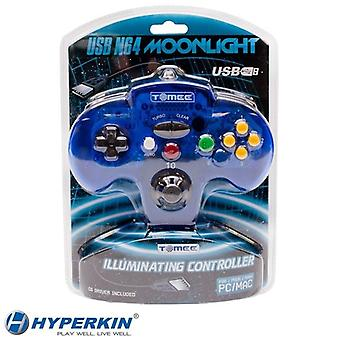 Tomee Nintendo 64 PC & MAC USB Moonlight Illuminating LED GamePad Controller