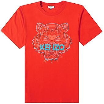 Kenzo Tiger face T-shirt rouge