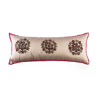 Embroidered Star Flower Of Egypt Throw Pillow Cover