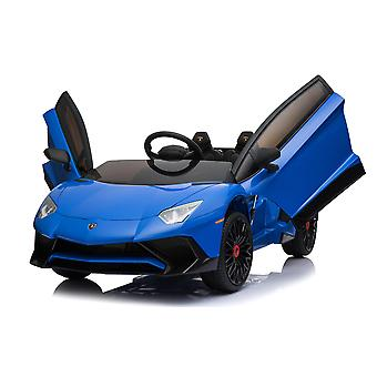 Licensed Lamborghini Aventador SV 12V 7A Electric Ride On Car Blue