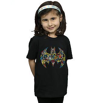 DC Comics Girls Batman Batgirl Logo Collage T-Shirt