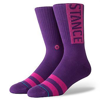 Stance Uncommon Solids Mens Socks ~ OG  purple (size L)