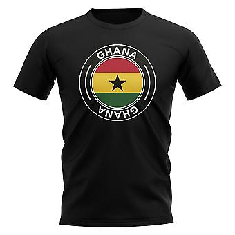 Ghana Football Badge T-Shirt (Black)