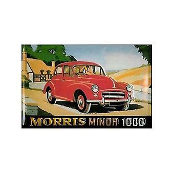 Morris Minor 1000 wytłoczona stalowego muru Zarejestruj 200 X 300 Mm
