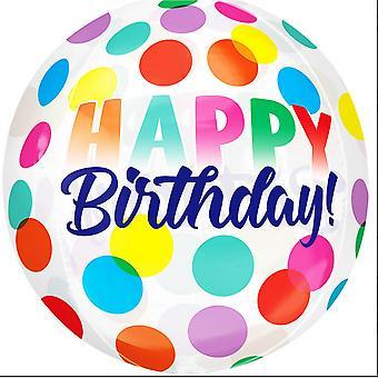 Anagram hyvää syntymä päivää isot Pisteet Supershape Orbz ilma pallo