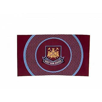 West Ham FC Official Football Core Crest 5 X 3 Flag