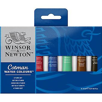 Set de 6 x 8ml Winsor & Newton Cotman aquarelles