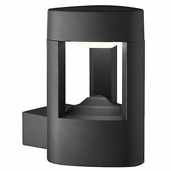 LED-Außenaufbau Aluminium Wandlicht Grau Ip54