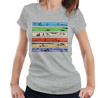 Krazy kat farve Strip kunst dame T-shirt