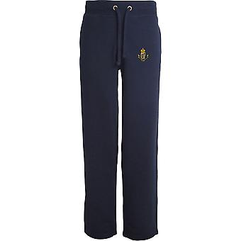 Connaught Rangers - Licensed British Army Embroidered Open Hem Sweatpants / Jogging Bottoms