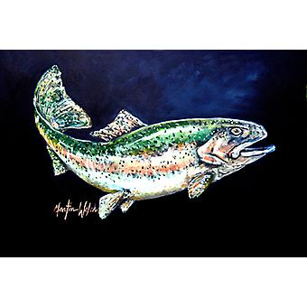 Carolines Treasures MW1213PLMT Deep Blue Rainbow Trout Fabric Placemat