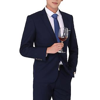 Allthemen Men's 2-Parça Suit Solid Business Blazer&Pants