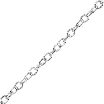 45cm Silver Cable Chain Necklace - 925 Sterling Silver Silver Heavy - W39093X