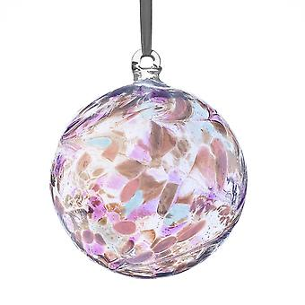 Sienna Glass 10cm Friendship Ball, Pearl