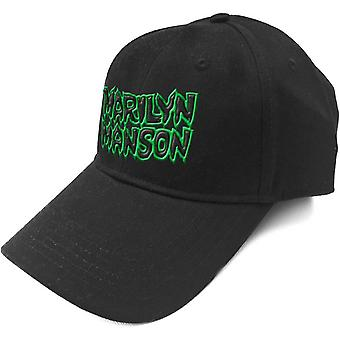 Marilyn Manson Baseball Cap Band Logo say10 new Official Black Strapback