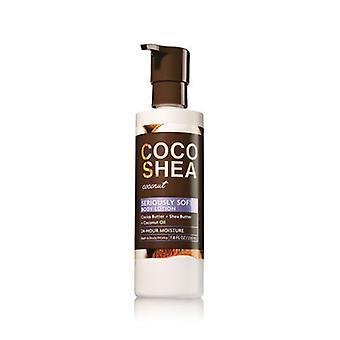 Bath & Body Works Coco Shea Coconut Seriously Soft Body Lotion 7.8 fl oz / 230 ml (Pack of 2)