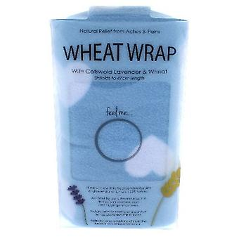 Blue Heart Wheat Wrap in Acetate Gift Box