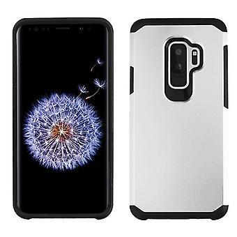 ASMYNA כסף/שחור Astronoot טלפון מגן כיסוי עבור גלקסי S9 Plus