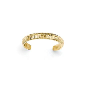 14 k giallo oro lucido e Sparkle-Cut Toe Ring