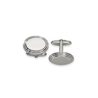 Stainless Steel Polished Engravable Cuff Links Jewelry Gifts for Men