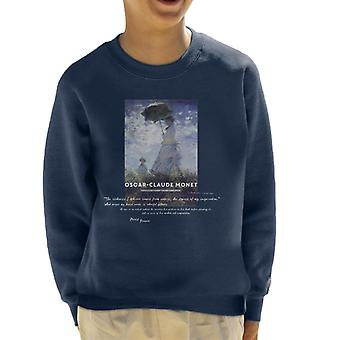 A.P.O.H Oscar Claude Monet Nature Quote Kid's Sweatshirt