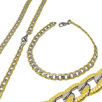 Set Halsband & Armband Stainless Steel Two Tone 6mm