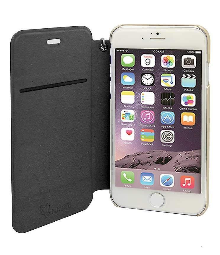 iPhone 6/6s - 4.7 Inch Nappa Embossed Camellia Folio Hard Shell Black