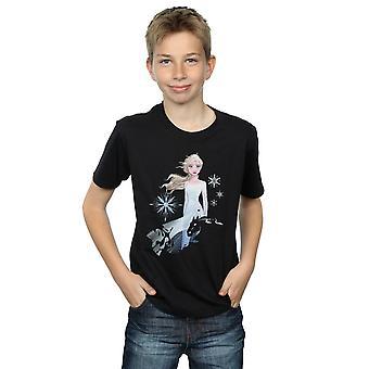 Disney Boys Frozen 2 Elsa Nokk siluett T-shirt