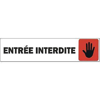 Sticker Sticker Door Door Door Commerce Ufficio Entree Pannello proibito