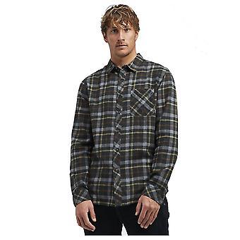 Billabong Fremont Flannel Long Sleeve Shirt in Black