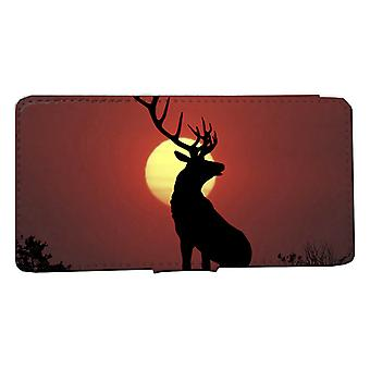 iPhone 6/6s Wallet case: Stag Sunset Shell Case