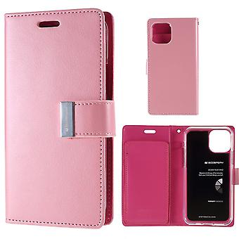 Mercury GOOSPERY Rich Diary for iPhone 11 Pro Max-Pink