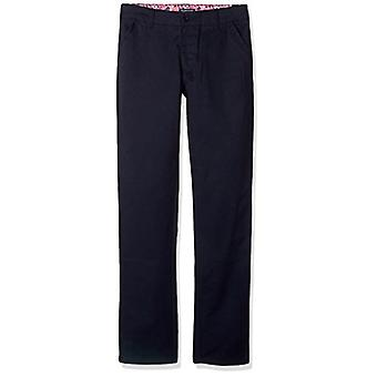 U.S. Polo Assn. Boys' Twill Pant (More Styles Available),, Plain Navy, Size 18
