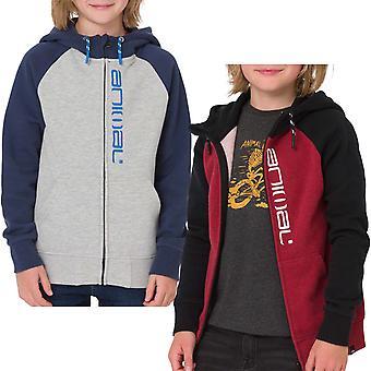 Animal Boys Kids Humming Long Sleeve Full Zip Hooded Hoody Sweatshirt Hoodie Top