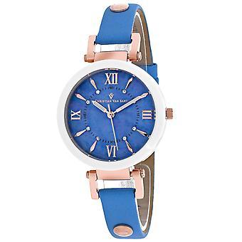 Christian Van Sant Women's Petite Blue MOP Dial Watch - CV8165