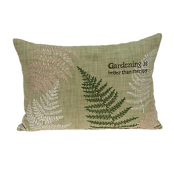 """20"""" x 0.5"""" x 14"""" Charming Tropical Green Pillow Cover"""
