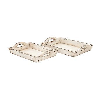 木製トレイ 2 個セット