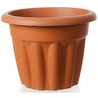 Wham Almacenamiento 40cm Vista Media Ronda Planta de Plástico Pot