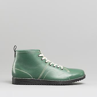 Blakeseys 1960 Unisex Leather Monkey Boots Green/cream