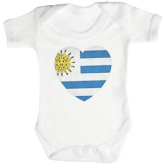 Body de bébé coeur Uruguay l'amour / Babygrow