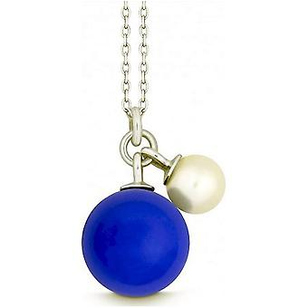 QUINN - Necklace - Silver - Pearl - Chalcedony - Freshwater - 27601423