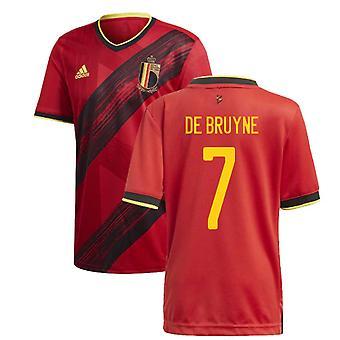 2020-2021 Belgien Home Adidas Fußball Trikot (DE BRUYNE 7)