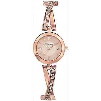 Watch Trendy Kiss TMRG10100-04 - watch steel Dor e pink studded woman