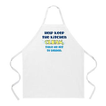 Halten Küche sauber Schürze
