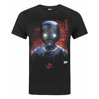 スター・ウォーズ ローグ ワン K2S0 ロボット メン&アポス;s Tシャツ