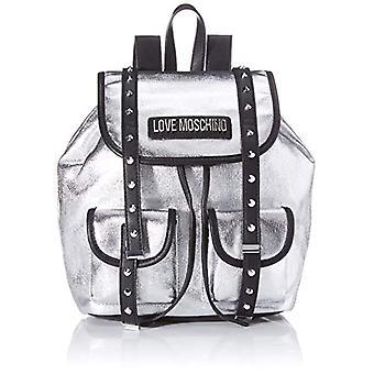 الحب موسكينو Jc4078pp1st حقيبة حقيبة الظهر الفضية (فضة) 14x28x35 سم (W x H x L)