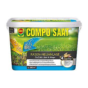 COMPO SAAT® mezcla de plantas nuevas en el césped, 2,2 kg